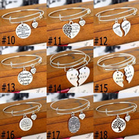 "Wholesale Silver Thank Charms - Fashion Love Jewelry ""No longer by my side but forever in my heart thank you""Adjustable Wire Expandable Bangle Pet Memorial Jewelry"