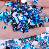 акриловые краски оптовых-15g Bag About 300pcs Flat Back Acrylic Rhinestones in a Variety of Shapes and Sizes Many Colors For Face Decorations Face Gems
