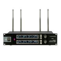 kanalbänder großhandel-8 Kanäle, die UHF drahtloses Mikrofon mit HandKopfhörer-Lavalier-Revers und Gurt-Satz-Mikrophonen für Bühnenaufführungsshow unterrichten
