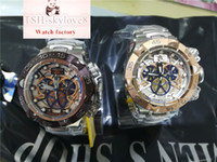 Wholesale Unique Work - AAA luxury brand INVICTA men's quartz watch hot selling high-end stainless steel plated structure unique small pointer work limited edition
