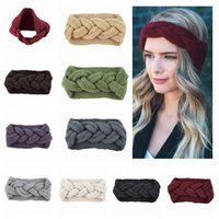 Wholesale hair weave braid accessories online - 9 Colors Knitting Twist braid hair band hair earmuffs hand woven headband autumn winter warm Fashion hair accessories GGA1246