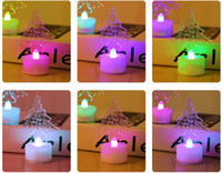 Wholesale Led Small Christmas Tree - Acrylic colorful candle lights the Christmas tree Santa Claus small night light led electronic luminous romantic gift