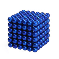 Wholesale puzzle bead - 5mm 216pcs Neodymium Magnetic Balls Spheres Beads Magic Cube Magnets Puzzle Birthday Present