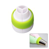 gâteau glaçage buse achat en gros de-2018 Hot Sale 3-Color Icing Piping Bag Convertisseurs de buses russes Coupler Cake Decorating Tools