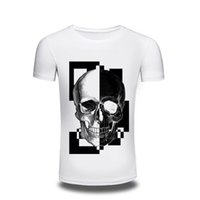 Wholesale woman s skull clothing - Camping T-Shirts 2017 men's Clothing Men Women T-shirt Hip Hop 3D Funny T Shirts Mens Punk Tee Shirt Casual Skull Printed Tshirt Camise