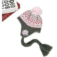 детские шапки ручной работы оптовых-New  LANGZHEN Girls Hats Handmade Flower Kids Baby Winter Hats Bonnet Enfant Hat For Children Baby Muts KF117