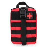 bolsas médicas al aire libre al por mayor-Bolsa de teléfono Kits de emergencia durables Bolsa Tactical Medical Kit de primeros auxilios Paquete de cintura militar Al aire libre Camping Travel Tactical Molle Pouch 2018