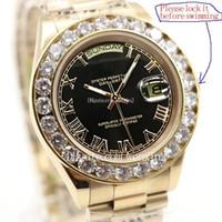 16fd5911e8d 17 Cor Marca de Ouro Presidente Dia-Data Diamantes Assista Men Stainless  Mãe de Pérola Dial Diamante Bisel Automático Relógio de Pulso AAA Relógios