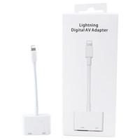 convertidor digital gratis al por mayor-Conversor de cable HDMI de alta calidad del adaptador de HDMI de Apple para Iphone con la caja al por menor DHL libre
