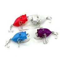 ingrosso basso plastica-4 cm esche bass esche mini insetto forma cicala designer pesca plastica 3d occhi attrezzatura per la pesca molti colori 2 5hj ZZ