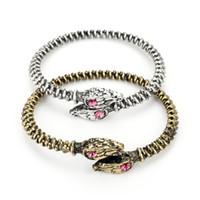 indisches schlangenarmband großhandel-Mode Viking Armband Nostalgie Jormungandr Viking Schlange Armband Männer Öffnen Armreif Für Frauen Indischen Schmuck -25