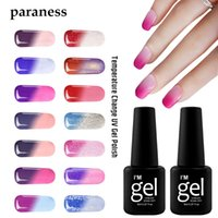 Wholesale mood changing gel nail polish for sale - Group buy Paraness ML Snowy Thermal Gel Mood Changing Color DIY Nail Art UV Gel Varnish Long Lasting Temperature Change Color Polish