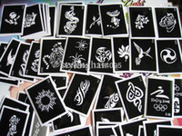 Wholesale 100pcs lot Mixed tattoo stencil for painting henna tattoo pictures designs reusable airbrush tattoo stencil
