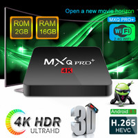 ingrosso scatola android 4k-2018 Hot MXQ PRO PLUS da 2 GB da 16 GB per Android 8.1 TV Box Amlogic S905W Quad Core 4K IPTV Media Player