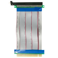 adaptador elevador pci e 1x al por mayor-PCI-E 16X a 16X Adaptador de tarjeta vertical Cable extensor PCI E 16X PCI Express Flexible vertical 1X 4X 8X 16X