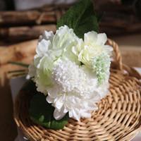 Wholesale Flower Dahlias - Peony Flowers Peony Bouquets Korean Peony flower dahlia Wedding decoration Artificial flowers Bridal bouquets decoration Reusable