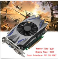 Wholesale pci graphics cards - Best seller gtx750ti video game graphic card 2G DDR5 128 Bit independent pci-e card for desktop computer