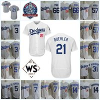 Wholesale alex white baseball - 5 Corey Seager Enrique Hernandez Walker Buehler Julio Urias Chris Taylor Yasiel Puig Alex Wood Joc Pederson Flex Base Jersey