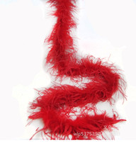 Wholesale red feather boas for sale - Group buy red Ostrich Feather Boas ply thinckness for wedding crafts sewing event decor