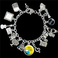 Wholesale paper towns - 12pcs Paper Towns inspired Charm Bracelet silver tone