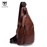 Wholesale Bull Buckles - BULL CAPTAIN 2017 Small FAMOUS Brand messenger bag MEN Shoulder BAGS Fashion GENUINE Leather MALE Crossbody Bag zipper buckle 86