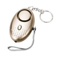 alarme de segurança para crianças venda por atacado-Alarme pessoal Seguro Som de Emergência de Auto-Defesa Alarme de Segurança Keychain LED Lanterna para Mulheres Crianças Elderly Explorer