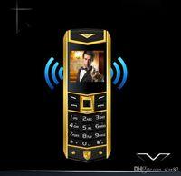 sim бесплатные разблокированные мобильные телефоны оптовых-Высокое качество разблокирована супер роскошный мобильный телефон для человека двойной sim-карты кожаный металлический каркас из нержавеющей стали дешевые сотовый телефон бесплатный чехол