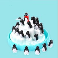 Wholesale penguin kids games - Puzzle Jenga Game Kid Children Desktop Iceberg Penguin Balance Early Childhood Parenting Interaction Toys Intelligence Hot Sale 14yh V