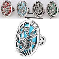 Wholesale music wedding rings for sale - Group buy 2018 Music Symbol Image Resin Precious Stone Decoration Couple Men Women Vintage Turkish Big Size Bohemian Boho Finger Rings