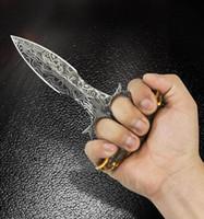 cuchillos de hoja fija envío gratis al por mayor-Envío gratis Safe Maker Empuje Daga Cuchillo Cuchillo de Hoja Fija Urban Pal Punzonadora Cuchillos multifunción ourdoor Senderismo acampar garra FOX mano
