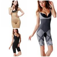 cuerpo de fibra de carbono al por mayor-Al por mayor-Nuevas Mujeres Señoras de Bambú de Carbón Micro-Fibra Shaper Adelgazamiento Completo Corsé Tummy Trimmer Body Suit Ropa Interior Fajas 320