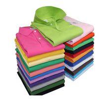 Wholesale crocodile clothes online - Brand New Style Mens Polo Shirt Top Crocodile Embroidery Men Short Sleeve Cotton Shirt Jerseys Polos Shirt Hot Sales Men Clothing Size S XL