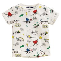 Wholesale T Shirt Cars Baby - childrens t shirts for baby boys new arrival 2018 pure cotton high quality dinosaur universe dog car printed America style
