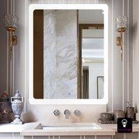 lámparas de pared espejo al por mayor-Baño europeo Antifog Touch Espejo Lámpara de pared Aseo Colgante de pared led Lámpara impermeable Salón de belleza Vestir espejo de pared con luces