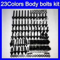 Discount gsx750f 99 fairing Fairing bolts full screw kit For SUZUKI Katana GSXF600 GSX750F 98 99 00 01 02 1998 1999 2000 01 2002 Body Nuts screws nut bolt kit 25Colors