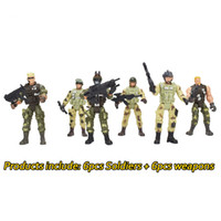 modelo soldado al por mayor-Extraíble Counter-Strike Warrior Soldiers Model Toy 360 Degree Rotation Boys Militar Model Soldiers Toys for Kids Juguetes educativos