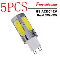 melhor b22 levou lâmpadas venda por atacado-5 PCS Novo Alumínio G9 LED COB Luz CONDUZIU a Lâmpada 12 V de Cristal Lâmpada de Milho Droplight Lustre Holofotes Substituir Halogênio frete grátis