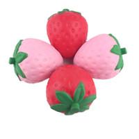 kawaii fruta blanda al por mayor-Squishy 12 cm Fresa Big Jumbo Fruit Simulación Fruitage Squishy Perfumado Juguete Fidget Kawaii Levantamiento Lento Teléfono Charm Colgante Juguete Para Niños