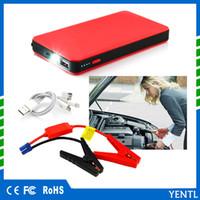 ingrosso avviamento della batteria di emergenza-Caricabatteria YENTL 8000mAh auto avviamento banca di avviamento 12v batteria di emergenza booster per auto Mobile Tablet fotocamera