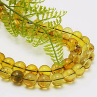 Wholesale round amber beads - Natural Good Quality Mexico Amber Loose Round Beads 10mm - 34 beads