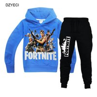 Wholesale character children sets for sale - Fortnite Boutique Set For Big Boy Costume Fall Children Hooded Sweatshirt Top Fortnight Pant PC Suit Fornite Kid Outfit Tracksuit