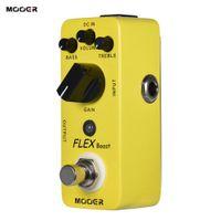 pedal pedalını itme toptan satış-MOOER FLEX Boost Mini Boost Gitar Efekt Pedal Geniş Kazanç Aralığı Gerçek Bypass Tam Metal Kabuk