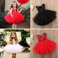 avrupa tarzı elbise kız çocuk toptan satış-Kızlar Elbiseler Glitter Tül Yay Backless Yaz Etek Bebek Giysileri Moda Çocuk Avrupa Tarzı Çocuk Giyim Butik
