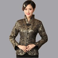 Wholesale china ladies satin online – High Quality Female Spring Jacket Classic China Style Lady Silk Satin Coat Flowers Mujer Chaqueta Size S M L XL XXL XXXL Mny04 C