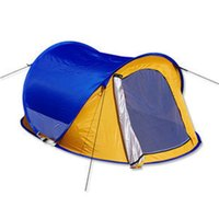 Wholesale Fiberglass Cloths - Double Use Fully Automatic Speed Up The Single Layer Tent Outdoors Portable Slacker Tents And Shelters UV Protection Oxford Cloth 95tx W