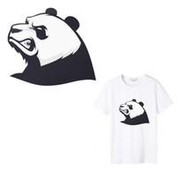 ingrosso panda patch-1 PZ Angry Panda Iron on Transfers Patch per abbigliamento Boy Girls Accessorio Punk Patch Adesivo termico per trasferimento termico Stampa su T-shirt