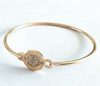 ingrosso colore dell'oro dei monili-Braccialetti di fascino rotondo di tono di marca di zecca MK di New York Braccialetti di fascino d'argento / oro / oro rosa colori gioielli di moda per le donne
