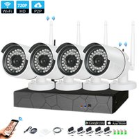 Wholesale 4pcs wireless ip camera for sale - 4CH CCTV System Wireless P NVR MP IR Outdoor P2P Wifi IP CCTV Security Camera System Surveillance Kit builtin TB HDD