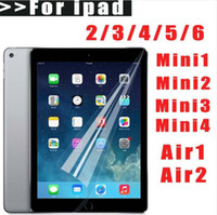 Wholesale Ipad Clear Screen Covers - Clear LCD Screen Protector Cover Guard Film + Cloth for New iPad 2017 9.7 Pro 10.5 2 3 4 5 6 Air Air2 Mini Mini2 Mini3 Mini4