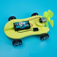 diy small cars großhandel-DIY Auto Atmosphäre Windkraft Fahrzeugmodell Bildung Interesse Kleine Produktion Kind Kind Spielzeug Geschenk Wissenschaft 4 2jl V